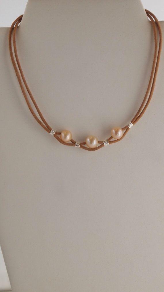 Delicado Collar en Plata Esterlina Perlas de por MLJewelryCreations