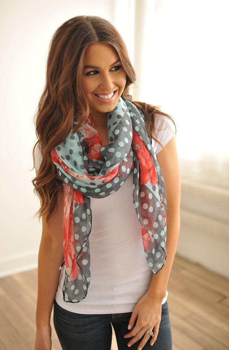 Dottie Couture Boutique - Blue Floral Scarf, $12.00 (http://www.dottiecouture.com/blue-floral-scarf/)