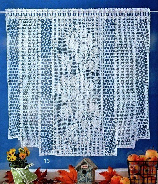 фото занавесок филейное вязание чем двукратное