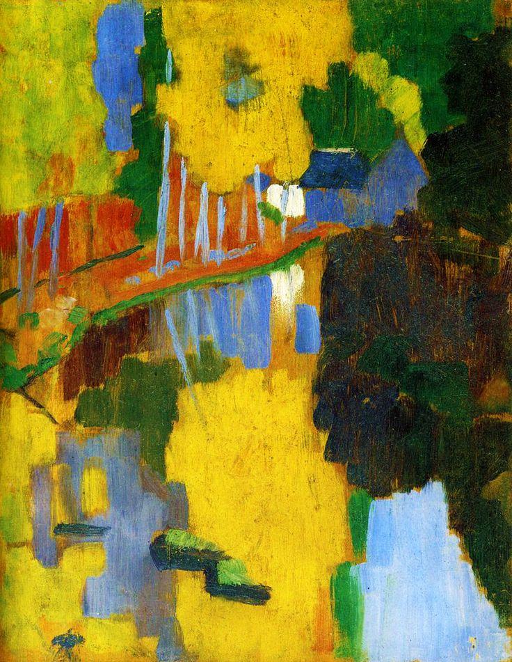 PAUL SÉRUSIER. The Bois d'Amour à Pont-Aven: The Talisman. 1888.