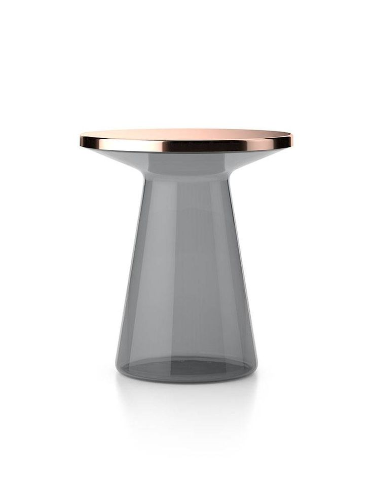 Table d'appoint ronde en verre FIGURE by TEO Europe design Yuno design
