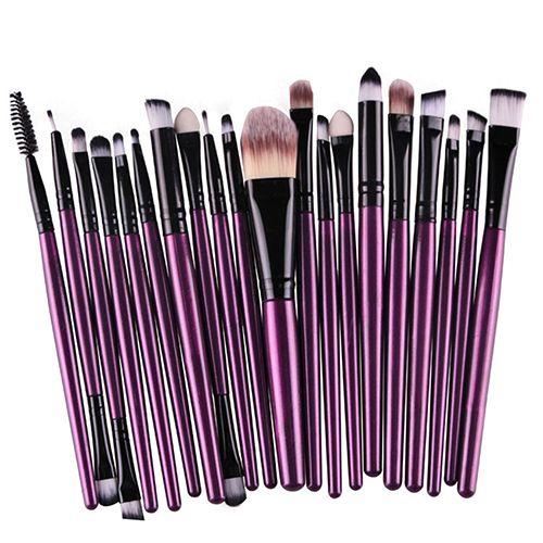 20X Maquillage Ensemble Poudre Fondation Fard À Paupières Eyeliner Lèvre Cosmétique Beauté Brosses 7214
