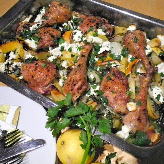 Griechisches Zitronenhuhn