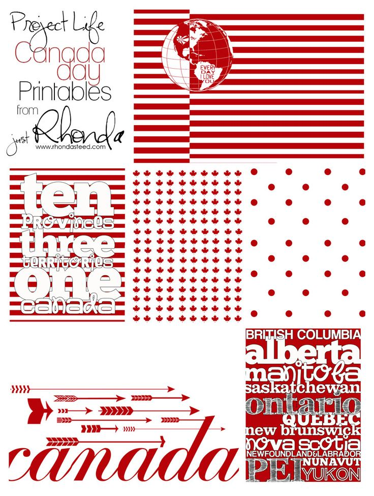 Project Life Fridays: Canada Day Printables