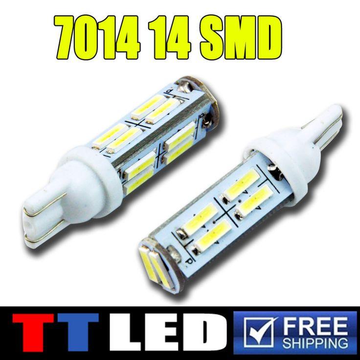 T10 7014 14SMD автомобилей Светодиодные Шариков Автомобиля Клина Светильника резервного копирования автомобильные фары Внутреннее Освещение СВЕТОДИОДНЫЕ Лампы T10 14 СВЕТОДИОДНЫХ автомобилей # LB124