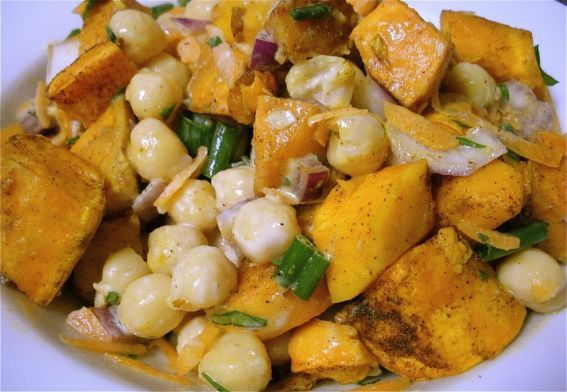 Warm Sweet Potato & Chickpea Salad Recipe