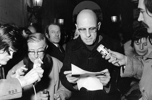 Foucault (reading), Deleuze (watching), Sartre (smoking)