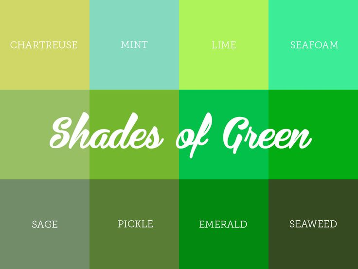 How Many Shades of Green You Know?