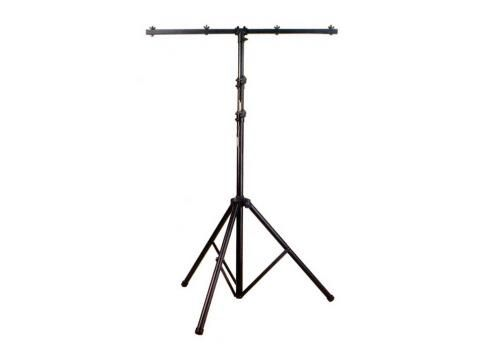 Lighting Stand with T-Bar Assembly. Black - BC Wholesalers. UXL Aluminium Lighting Stand with T-Bar Assembly. Large tripod base with bearing weight of 50Kg. Maximum Height 3.25m. Stand weight 5Kg. Black Finish