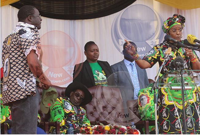 President Robert Mugabe Dozes Off at State Function While Wife Humiliates Presidential Spokesperson (Video)