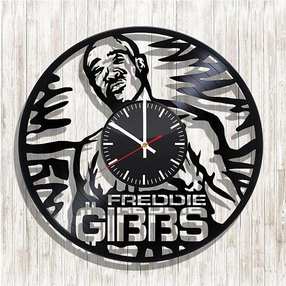Freddie Gibbs wall clock with original design Freddie Gibbs