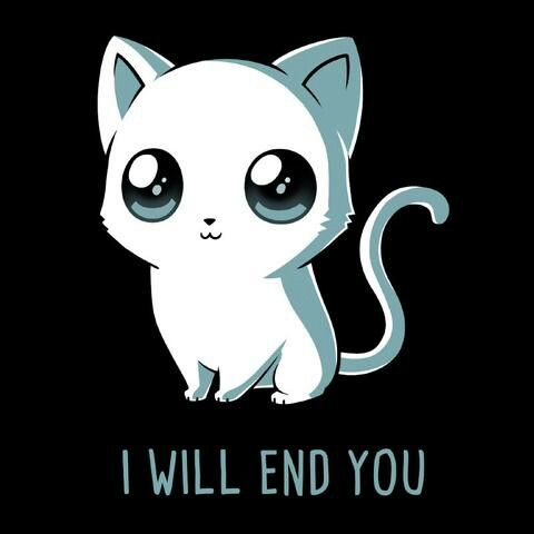 Evil cat  I will end you
