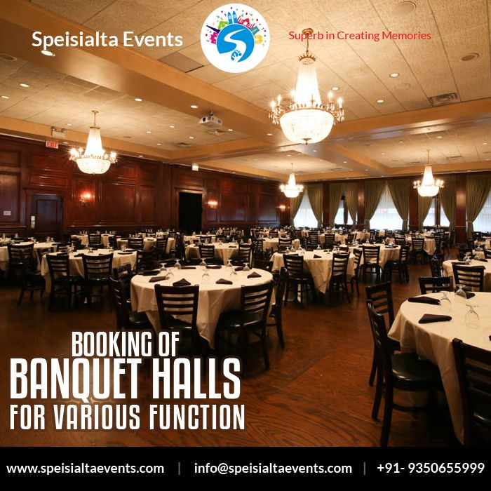 """""""Booking of Banquet Halls for various functions in just one click"""" #speisialtaevents #events #decor #decoration #weddingplanner #evenorganizer #destinationwedding Visit Our Website: www.speisialtaevents.com For Booking Call:+91-9350655999, +91-9350455999"""