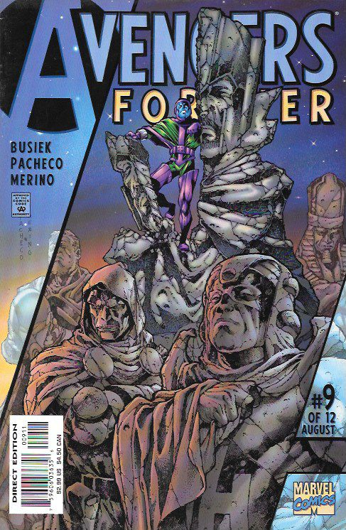 """""""Reflections of the Conqueror"""" ___ script by Roger Stern (plot) and Kurt Busiek (plot & script), Art And Cover Carlos Pacheco , This Issue Is In Very Fine / Near Mint Condition , The Story ...Kang the"""