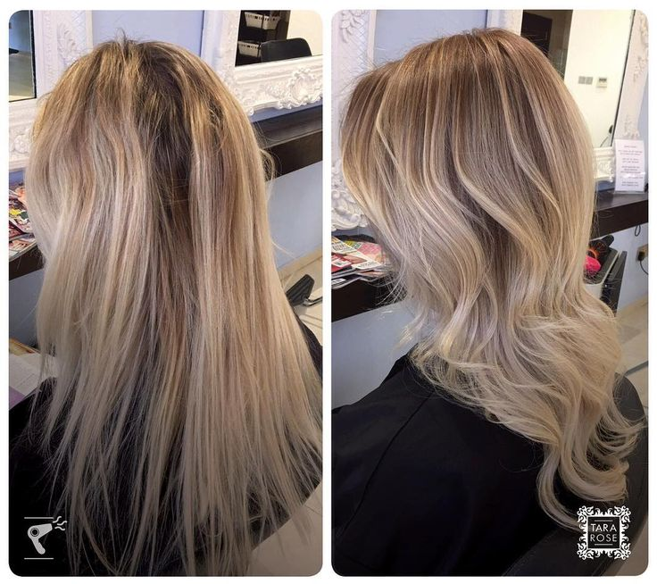 T-section highlights and root stretch, cut and finished by Hannah 💕