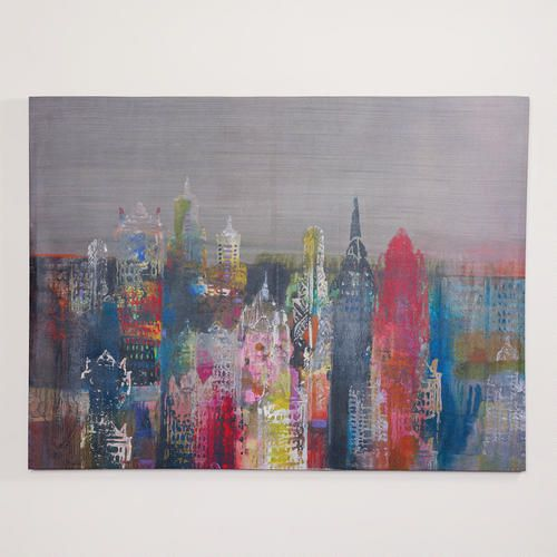 Nice colorful cityscape on printed canvas from WorldMarket: 'Penthouse View II' by John Douglas for $80