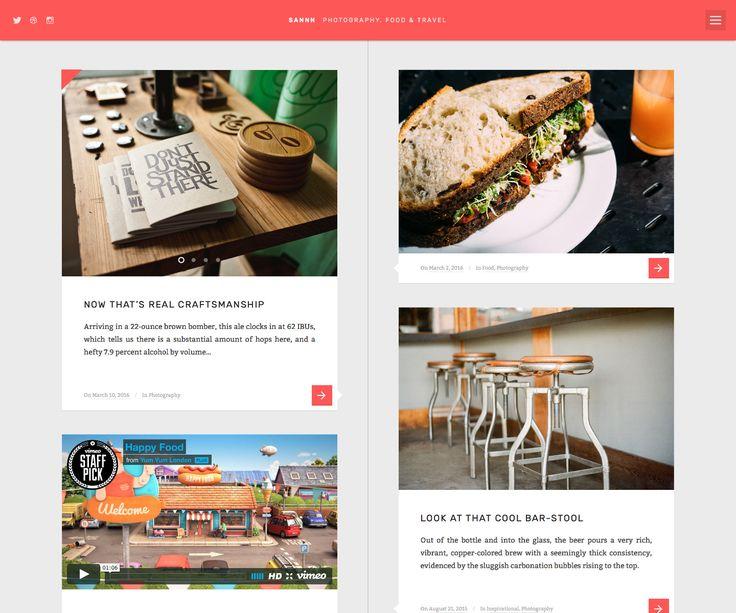 Sannn, a super clean timeline oriented tumblog style WordPress Theme.