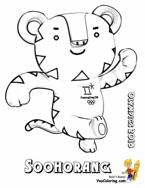 """Soohorang The Olympic Gams Mascot! """"Stop Foolin'!"""" Print Out This Free Coloring Page! """"Sweet!"""" Tell Other Coloring Kids Your Eyeballs Found YesColoring!"""