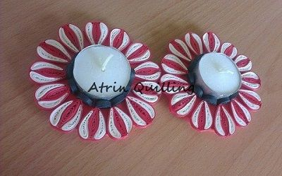 quilling flower candle