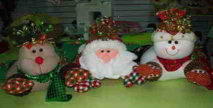 Muñecos de Navidad Papa Noel reno y muñeco de nieve