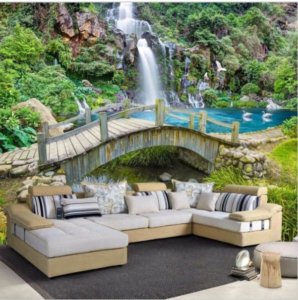 25 best ideas about waterfall wallpaper on pinterest for Paredes 3d cali