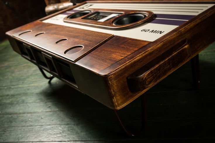 My Friend Made This Awesome Cassette Tape Coffee Table | Bored Panda