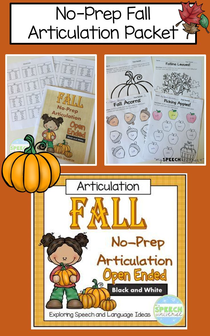 No prep fall articulation packet home words and fall for Fall home preparation