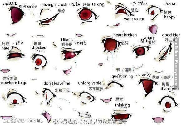 Anime Female Eyes Side View