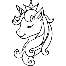 Top 50 Unicorn Coloring Pages For Toddlers Unicorn