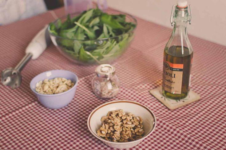 Wild garlic pesto ingredients #wildgarlic #ramsons #recipes #homemade #pesto #cooking #kitchen