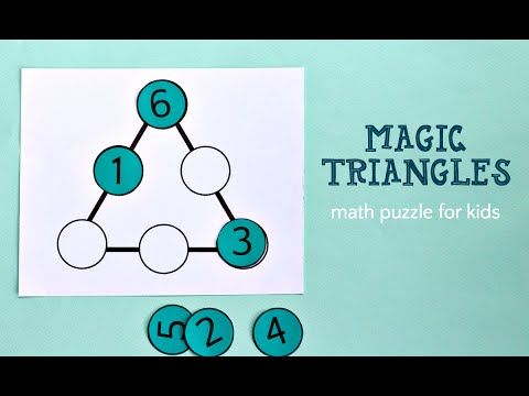 Magic Triangle: Math Puzzle for Kids – What Do We Do All Day