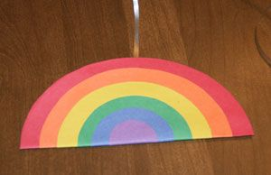 Fabulous Rainbow Craft - teaches circles, sorting by size, color recognition and finishing touches turn it into the perfect St. Patricks Day craft!