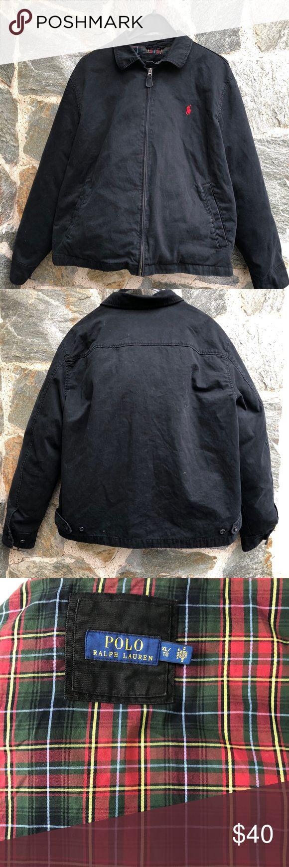 Vintage Men's Polo Jacket XL Black classic men's Polo jacket size XL.  Excellent condition. Polo by Ralph Lauren Jackets & Coats Windbreakers