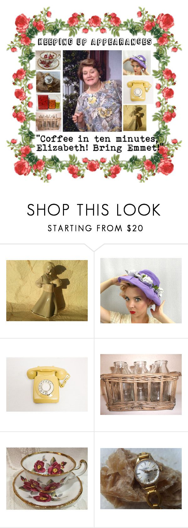 """""""Keeping up appearances!"""" by luckystanlv ❤ liked on Polyvore featuring vintage"""