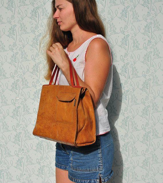 Orla Kiely bag handbag vinatge handbag leather leather bag