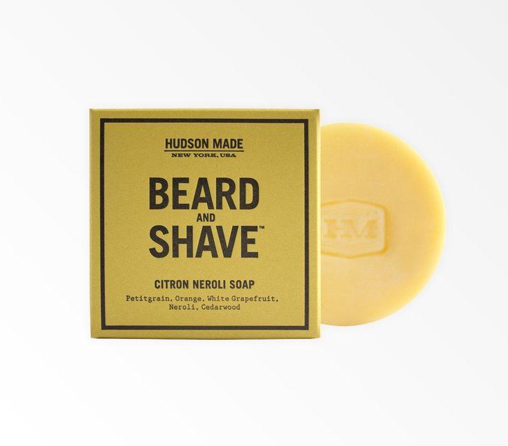 Savon pour la barbe et le rasage Citron Neroli de Hudson Made