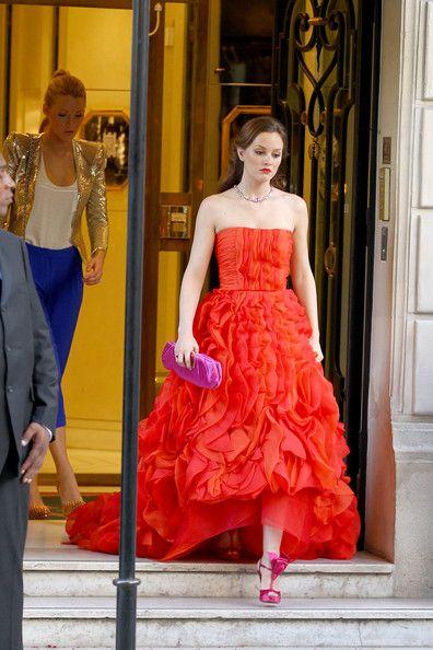 Oscar de la Renta ruffles. Source: PacificCoastNews.com -- Copyright © 2013 - Livingly Media, Inc. All Rights Reserved.