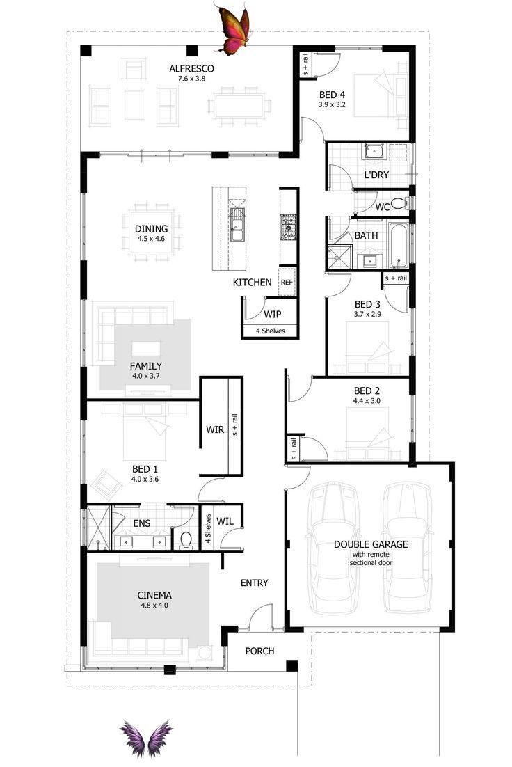 Best Open Floor Plans 2017 2021 Br Home Design Floor Plans House Plans Australia Free House Plans