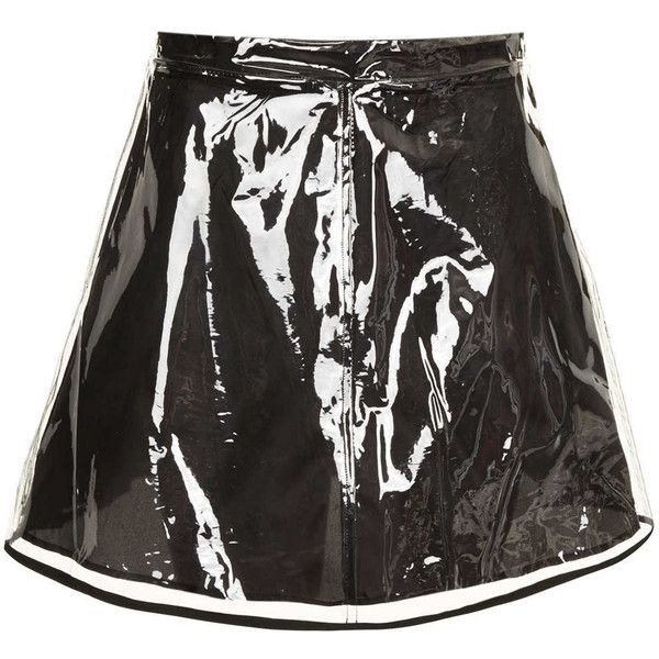TOPSHOP Clear Plastic Skirt (50 PAB) ❤ liked on Polyvore featuring skirts, bottoms, topshop, clear, plastic skirt, clear skirts, topshop skirts and clear plastic skirt
