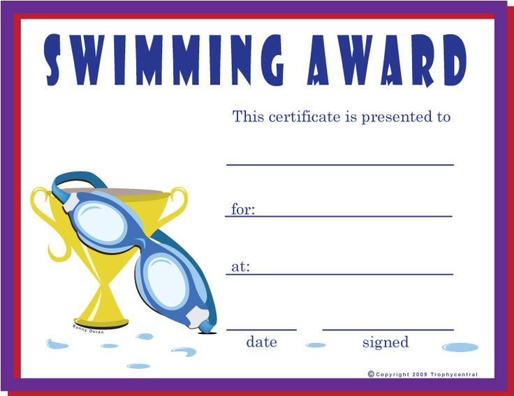 Free Swimming Certificates, Certificate Free Swimming ...