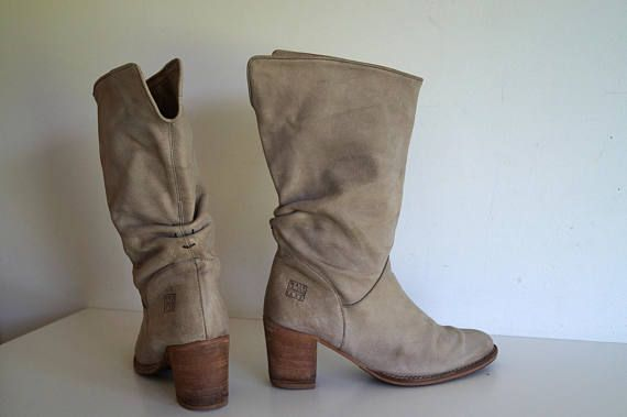 Vintage womens mid calf boots by WALK IN the PARK Gray cowboy