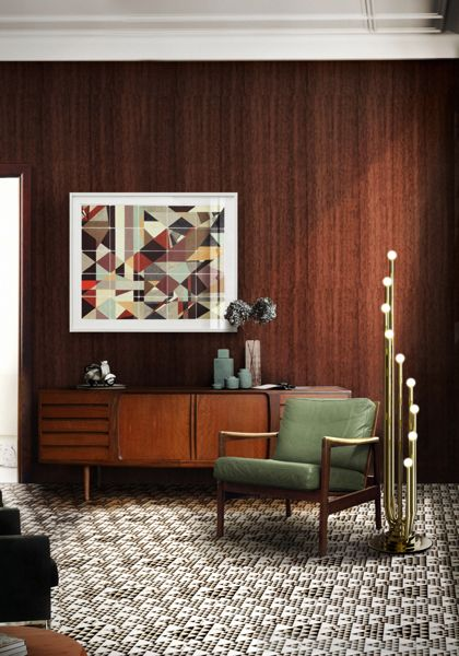 Stardust floor is a midcentury modern rotative lamp. Ideal to be placed in a big classic or modern living room.