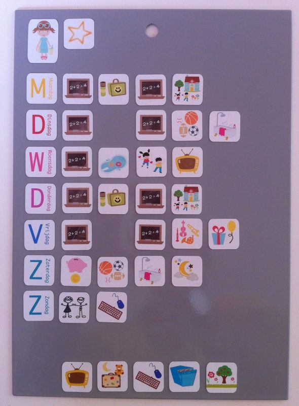 Olifantastisch magneet weekplanner Basisset School 40x