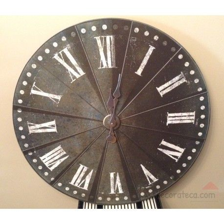 Reloj de pared industrial 80cm decorateca decorateca - Decoracion industrial online ...