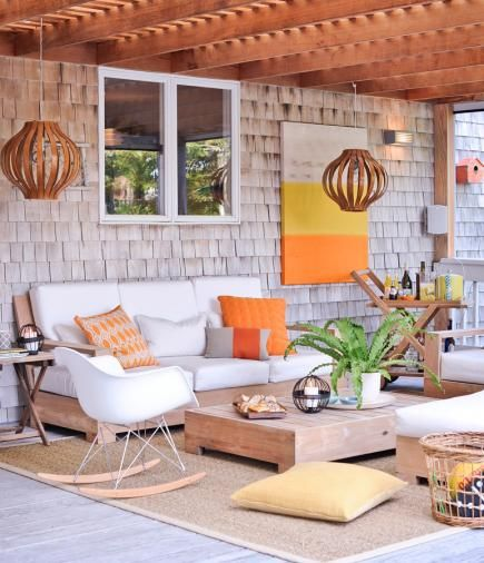 45 Ideas For Warm And Welcoming Porches. Wood ShinglesTeak Outdoor FurniturePorch  ...