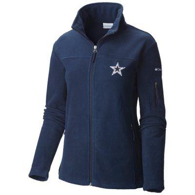 3ef1f1257 Dallas Cowboys Columbia Women s Give and Go Polar Fleece Jacket - Navy