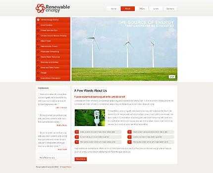 Renewable Energy Website Templates by Mercury