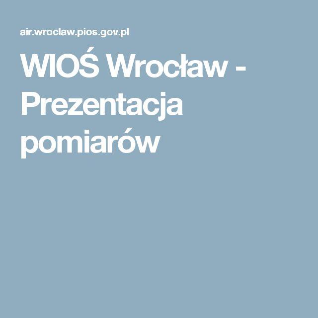 WIOŚ Wrocław - Prezentacja pomiarów