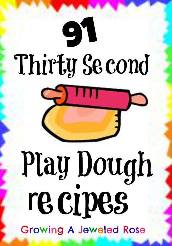 One simple thirty second play dough recipe that - 91 different amazing scented play doughs!