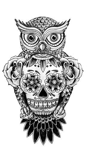 Las 25 mejores ideas sobre tatuajes de b ho en pinterest y for Calavera lobo